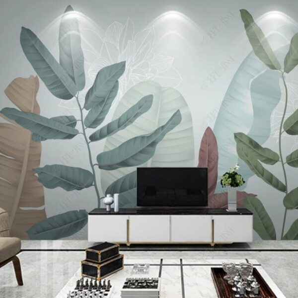 Big Leaves Wall Murals Wallpaper