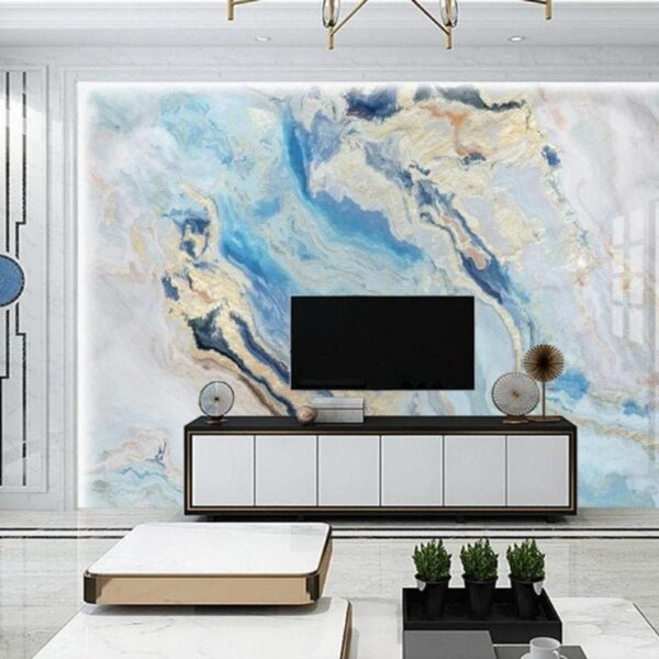 Fluid Water Marble Texture Wall Murals Wallpaper