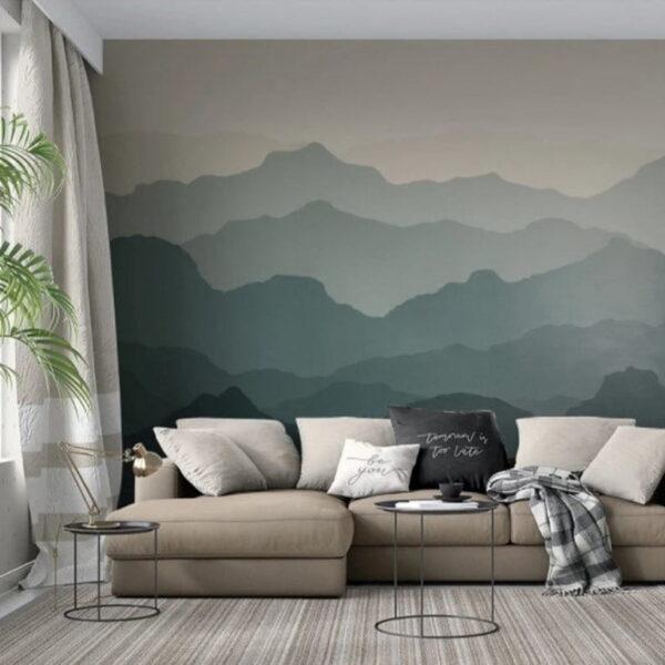 Foggy Nature Wall Murals Wallpaper