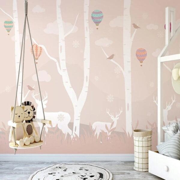 Abstract Deers Wall Murals Wallpaper