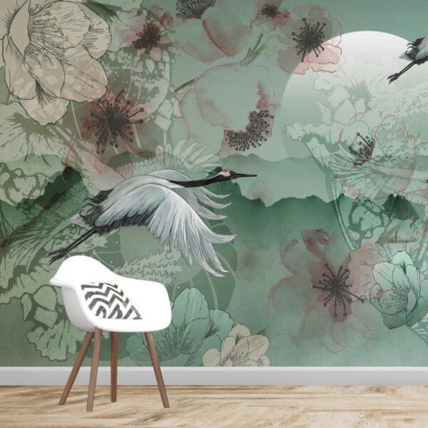 Greenish Wall Murals Wallpaper