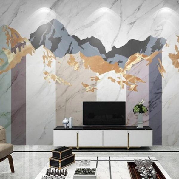 Abstract Mountains Wall Murals Wallpaper