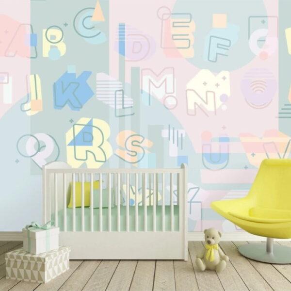Alphabet Letters Wall Murals Wallpaper