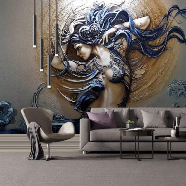 Ancient Warrior Woman Wall Murals Wallpaper