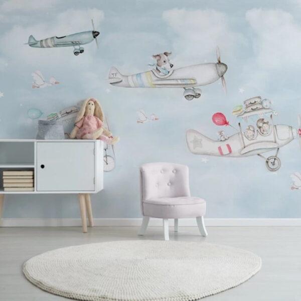 Light Blue Sky Wall Murals Wallpaper