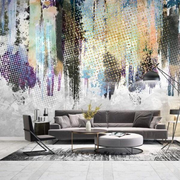 Colorful Dots Wall Murals Wallpaper