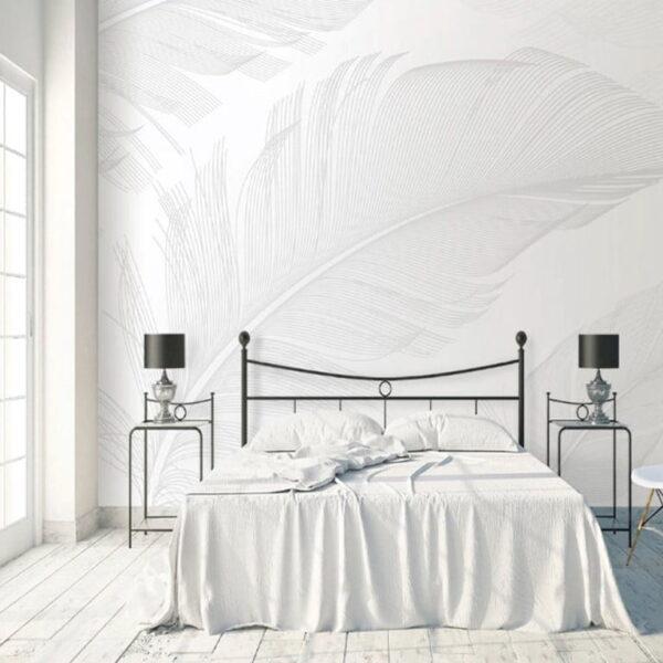 Gray Feather Wall Murals Wallpaper