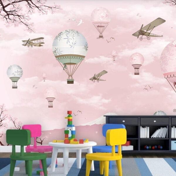 Pink Sky Wall Murals Wallpaper