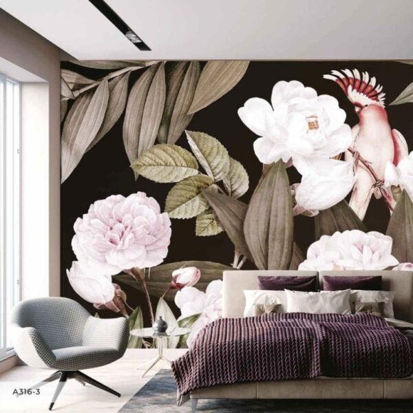 Bird and Flowers Wall Murals Wallpaper