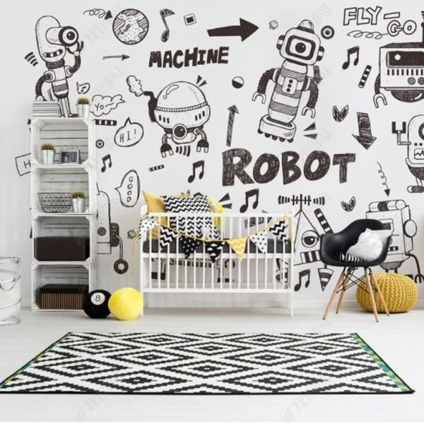 Robots Wall Murals Wallpaper