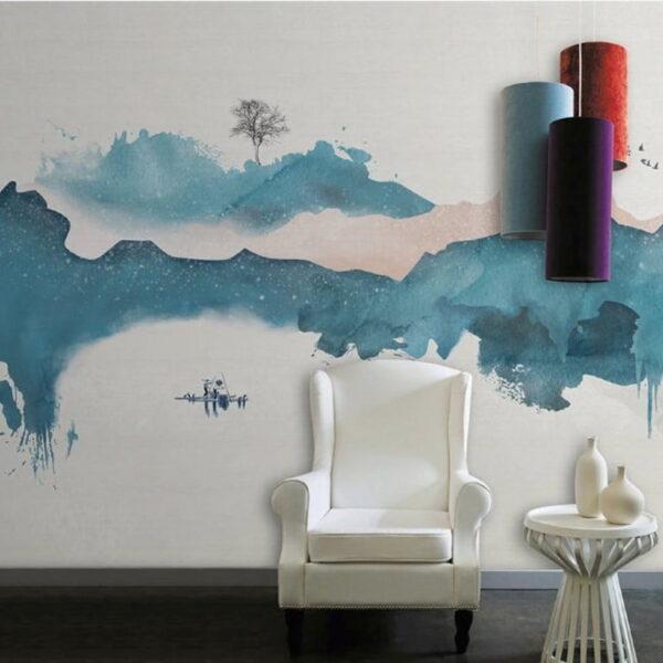 Blue Mountain Wall Murals Wallpaper