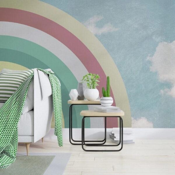Half Rainbow Wall Murals Wallpaper