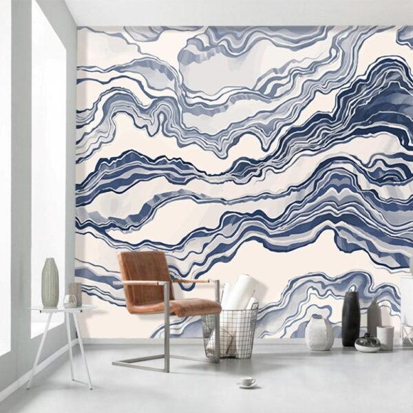 Abstract Waves Wall Murals Wallpaper