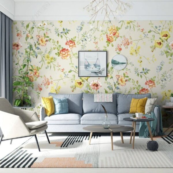 Chinese Style Flowers Wall Murals Wallpaper