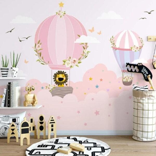 Pinkish Sky Wall Murals Wallpaper