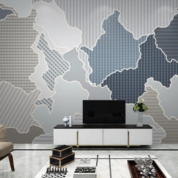 Abstract Continental Wall Murals Wallpaper