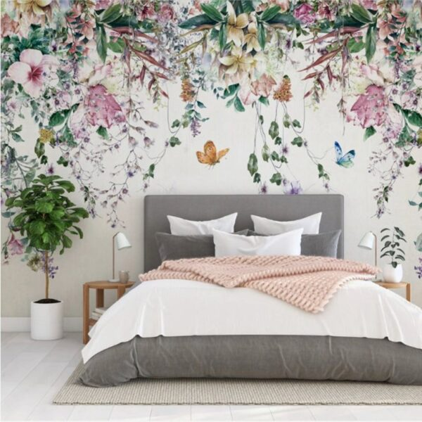 Colorful Flowers Wall Murals Wallpaper