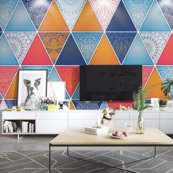 Triangle Shapes Wall Murals Wallpaper