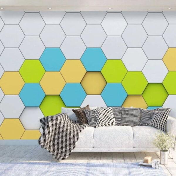 Abstract Tiles Wall Murals Wallpaper