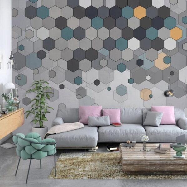 Hexagon Wall Murals Wallpaper