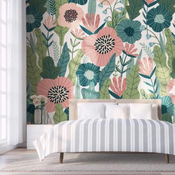 Large Plants Wall Murals Wallpaper