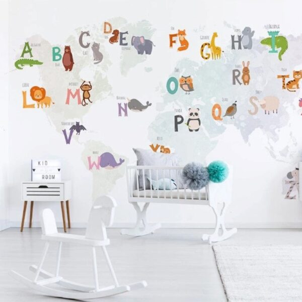 Colorful Letters Wall Murals Wallpaper