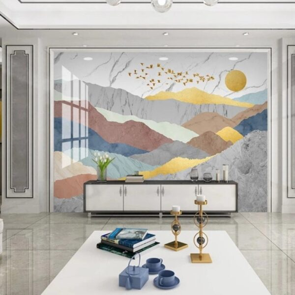 Colorful Mountains Wall Murals Wallpaper