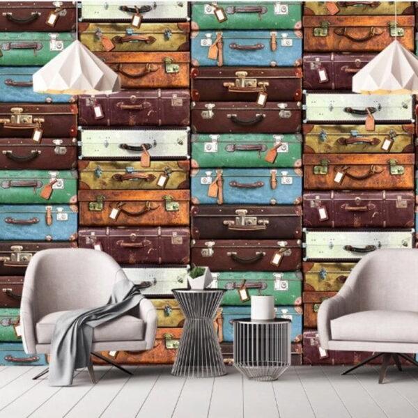 Suitcases Wall Murals Wallpaper