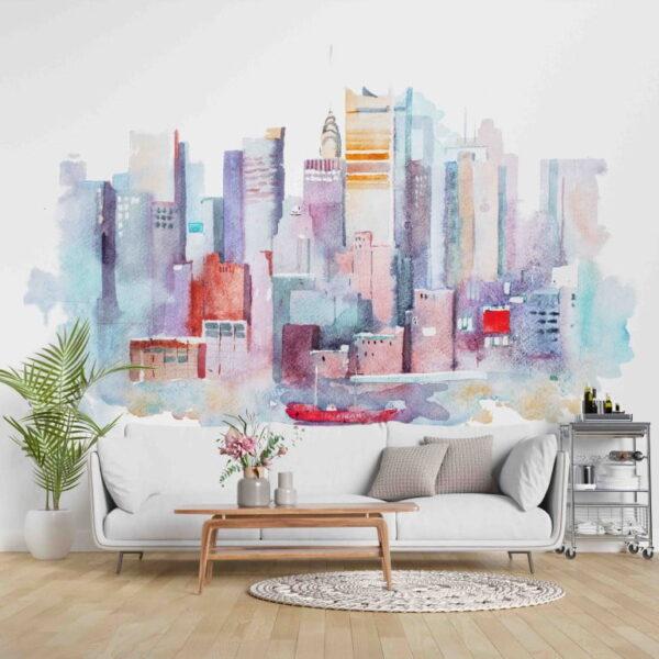 Colorful Skyscrapercity Wall Murals Wallpaper
