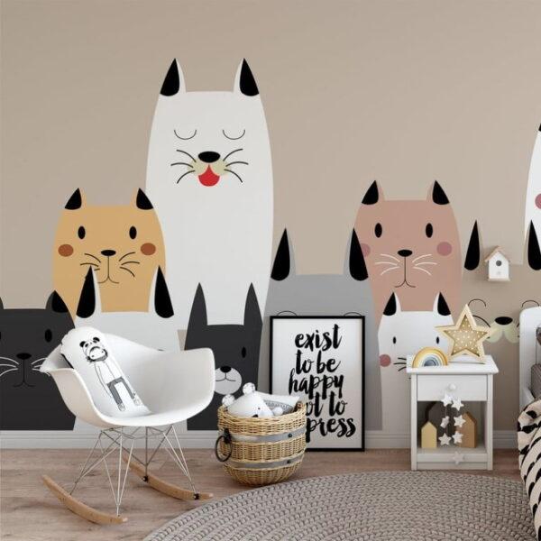 Cute Cats Wall Murals Wallpaper
