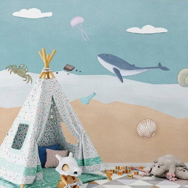 Crab Starfish Dolphin Wall Murals Wallpaper