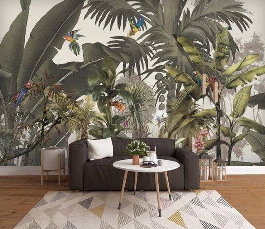 Dark Color Plants Wall Murals Wallpaper