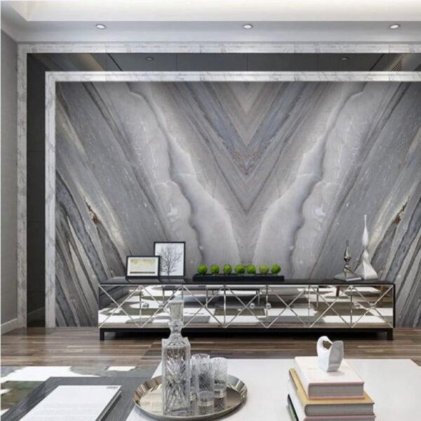Dark Gray Marble Texture Wall Murals Wallpaper