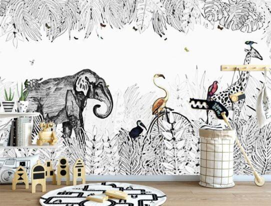 Zoo Wall Murals Wallpaper