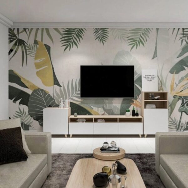 Abstract Leaves Wall Murals Wallpaper