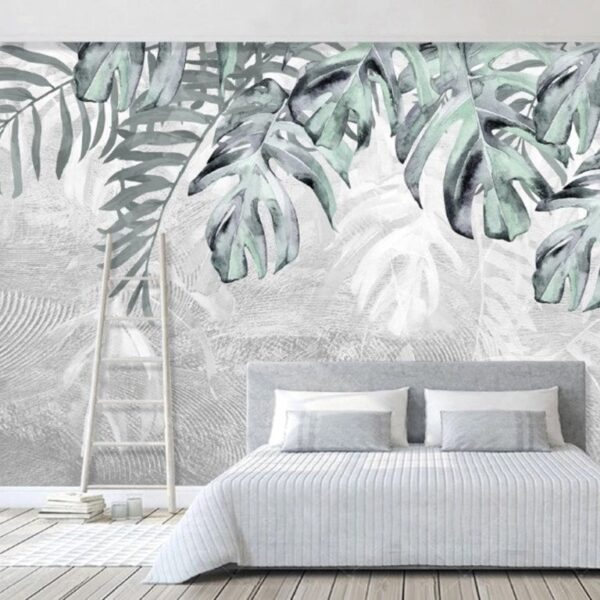 Exotic Havana Plant Wall Murals Wallpaper