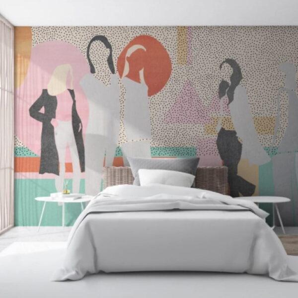 Fashion Girls Wall Murals Wallpaper