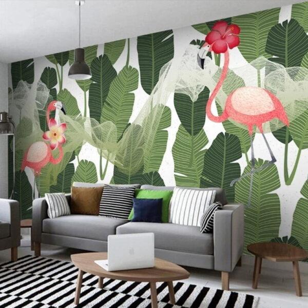 Flamingos Wall Murals Wallpaper