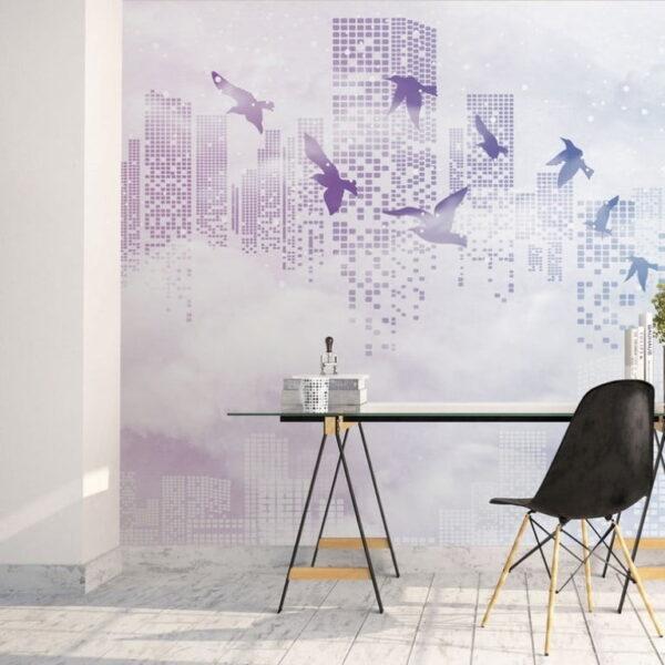 Skycraper Wall Murals Wallpaper