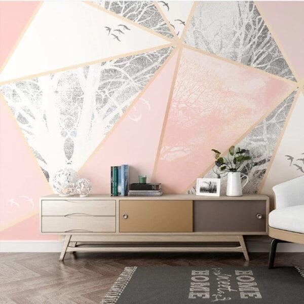 Pink Marble Texture Wall Murals Wallpaper