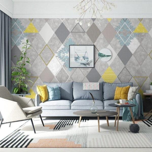 Square Shapes Wall Murals Wallpaper
