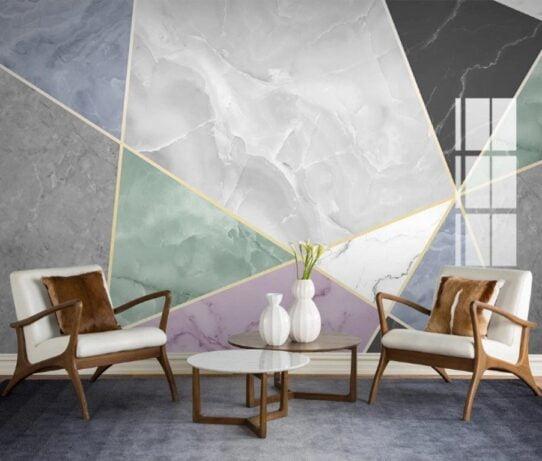 Geometric Marble Texture Wall Murals Wallpaper