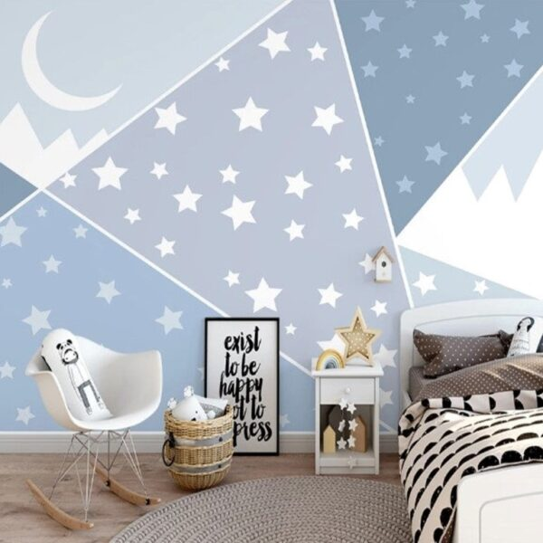 Stars Crescent Wall Murals Wallpaper