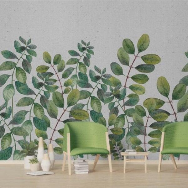 Green Leaves Wall Murals Wallpaper