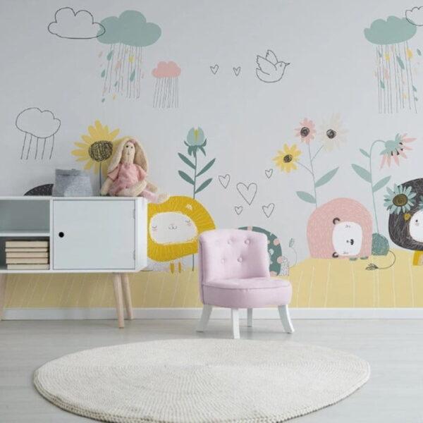 Hand Draw Kids Wall Murals Wallpaper