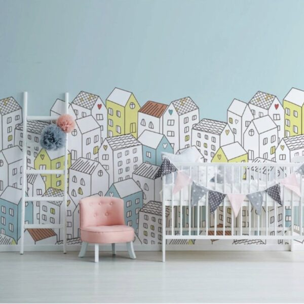 Colorful Houses Wall Murals Wallpaper