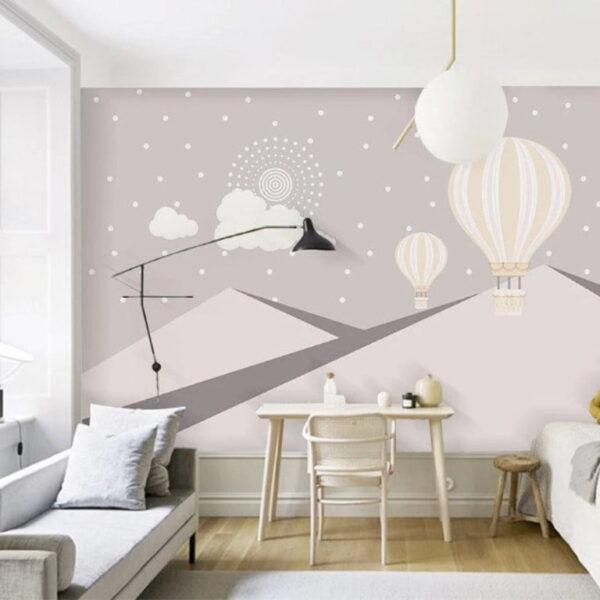 Pinkish Mountains Wall Murals Wallpaper