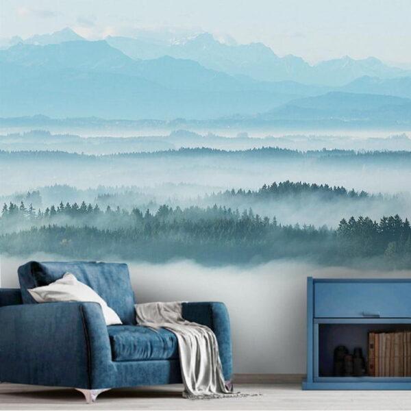 Foggy Forest Wall Murals Wallpaper