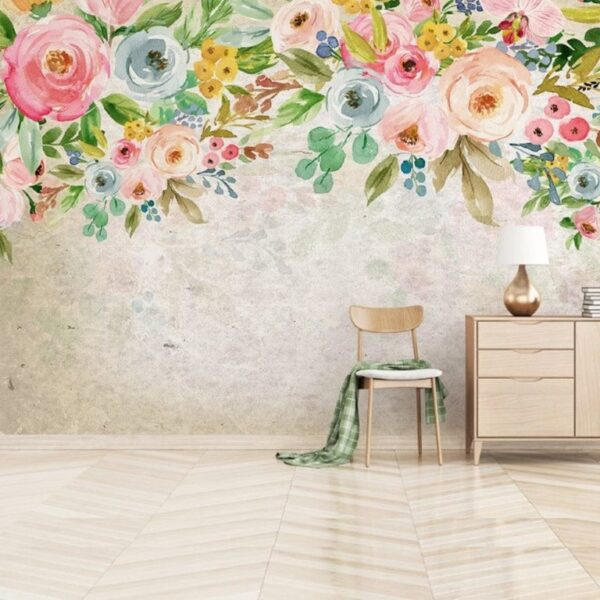 Oil Painting Flowers Wall Murals Wallpaper