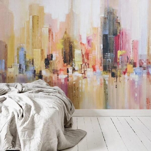 Oil Painting City Wall Murals Wallpaper